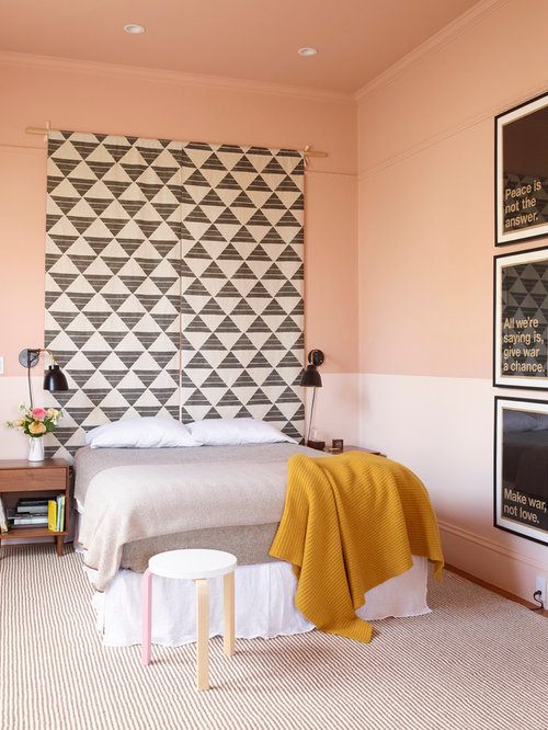 Inspiration For An Eclectic Bedroom Remodel In San Francisco With Pink Walls
