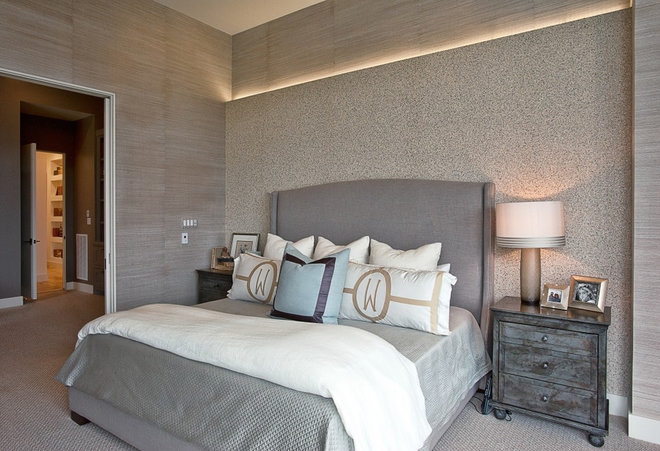 Transitional Bedroom by Greenbelt Construction