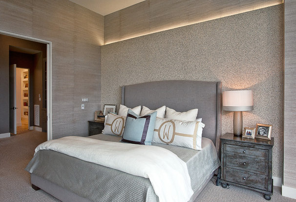 Transitional Bedroom by Cornerstone Architects