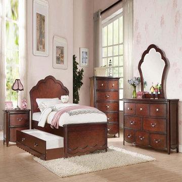 Cecilie Cherry Panel Bedroom Set