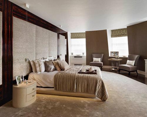 Monochromatic Traditional Master Bedroom Luxe Interiors De