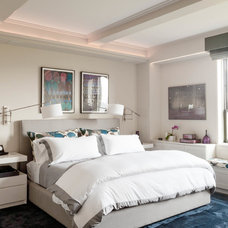 Transitional Bedroom by Wettling Architects