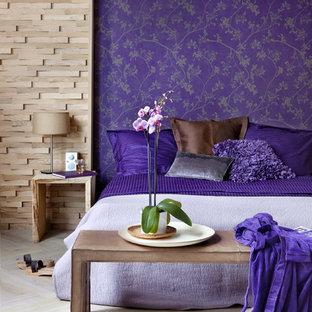 Свежая идея для дизайна: спальня в современном стиле - отличное фото интерьера