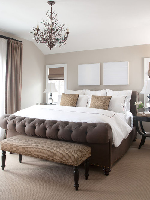 Traditional carpeted bedroom idea in Denver with gray walls