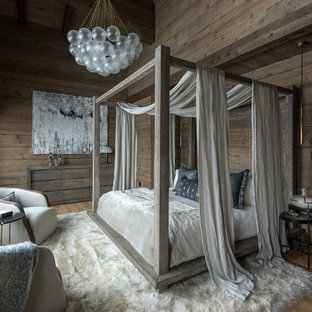 Bedroom Rustic Medium Tone Wood Floor And Brown Idea In Other With