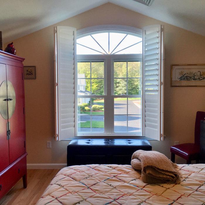 Arch Top Window in Master Bedroom