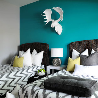 Teal Accent Wall | Houzz