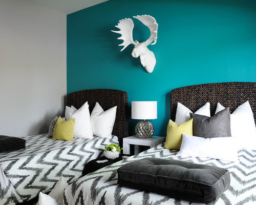 Teal Accent Wall Home Design Ideas Pictures Remodel And