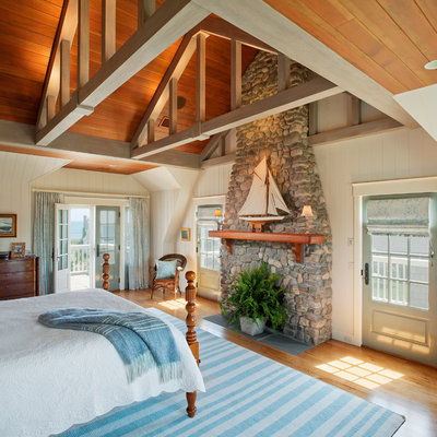 Beach Style Bedroom by Dennis Moffitt Painting