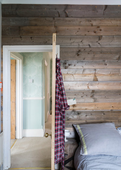 Rustic Bedroom by Farrow & Ball