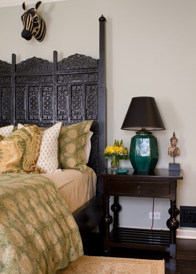 Eclectic Bedroom by Charmean Neithart Interiors