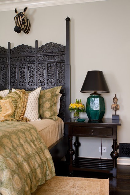 eclectic bedroom by Charmean Neithart Interiors, LLC.