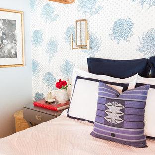 Aménagement d'une petit chambre mansardée ou avec mezzanine asiatique.
