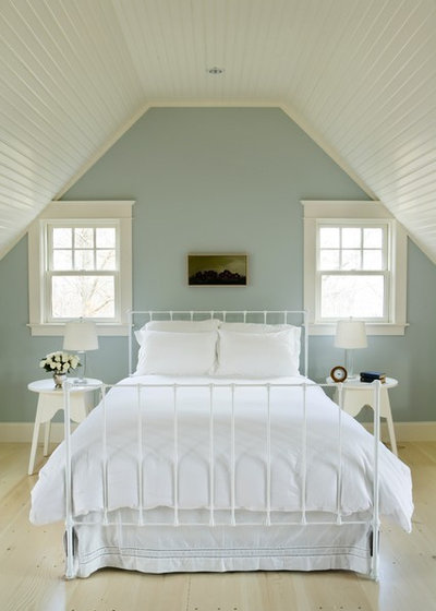 Beach Style Bedroom by Aquidneck Properties. 12 Tried and True Paint Colors for Your Walls