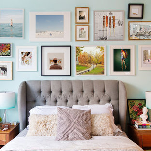 Cheerful Bedroom with Gallery Wall