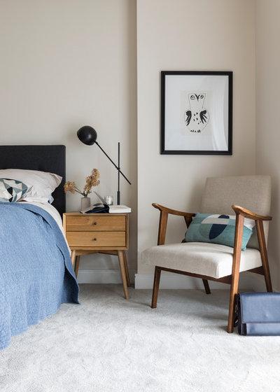 コンテンポラリー 寝室 by Imperfect Interiors