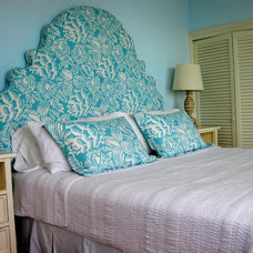Tropical Bedroom by Chelsea Design Inc