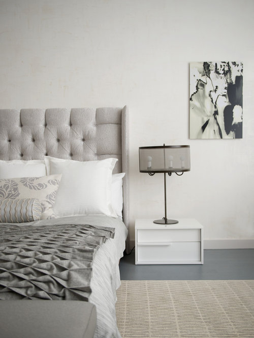 Inspiration for a mid-sized contemporary master marble floor bedroom  remodel in New York with