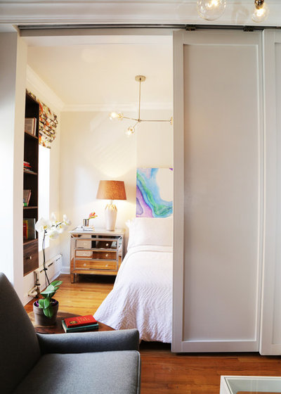 Houzz Tour Sliding Doors Open Up A Small Space In New