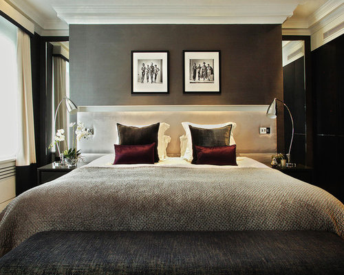 classy bedroom. Inspiration for a contemporary bedroom remodel in London Classy Bedroom  Houzz