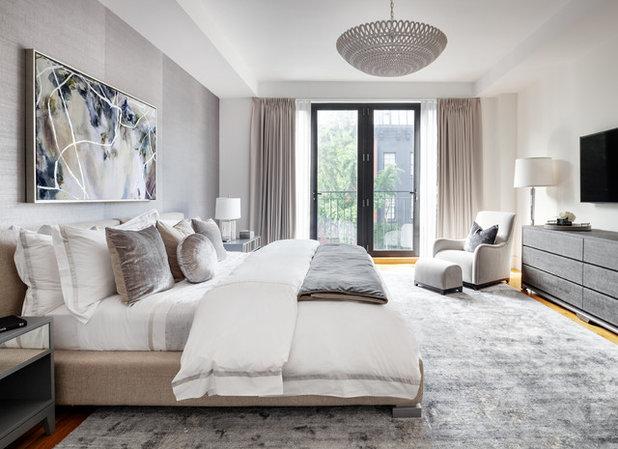 Scandinavian Bedroom by Regan Wood Photography
