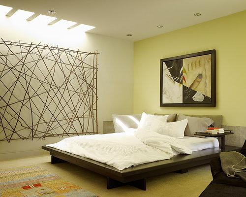 Camera da letto etnica con pareti gialle - Foto e Idee per Arredare