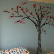 Modern Bedroom Cherry Blosson Tree Mural