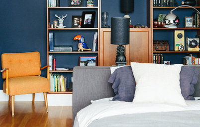 Room of the Day: An Island Bed Makes Way for a Reading Niche
