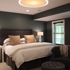 Transitional Bedroom by Cure Design Group
