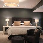 Blue Master Bedroom Contemporary Bedroom St Louis