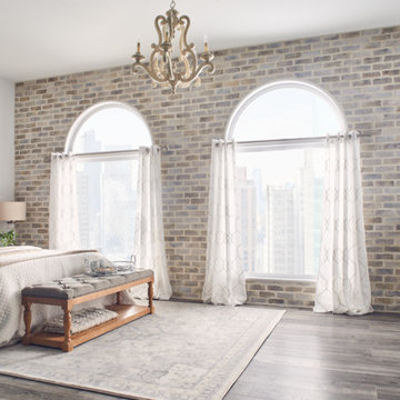 Chic and Comfortable Bedroom With Sophisticated Brick