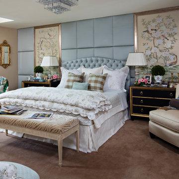 Chic Master Bedroom in Gladwyne, PA