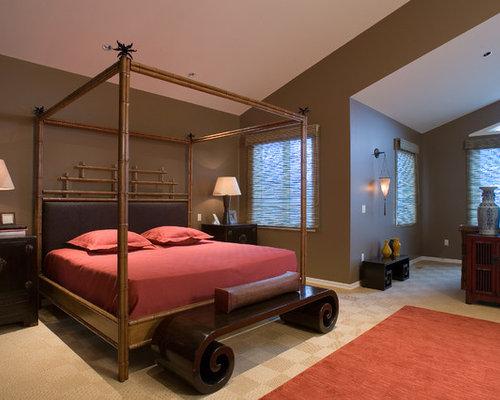 Camere Da Letto Stile Etnico Immagini : Camera da letto stile loft etnica con moquette foto e idee per