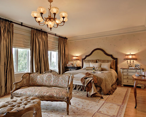 drapes for bedroom. Elegant light wood floor bedroom photo in Phoenix with beige walls Blackout Drapes  Houzz