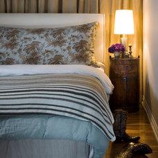 Transitional Bedroom by Michael Del Piero Good Design