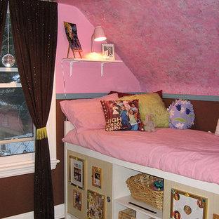トロントの小さいエクレクティックスタイルのおしゃれな寝室のインテリア