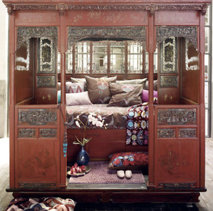 Asian Bedroom chinese bed