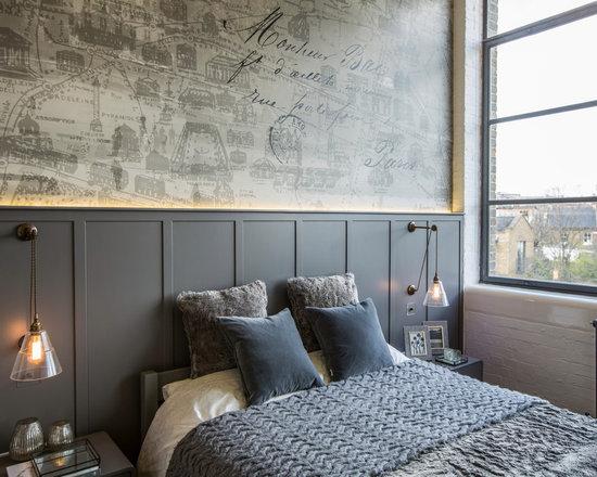 industrial bedroom design ideas, remodels & photos | houzz