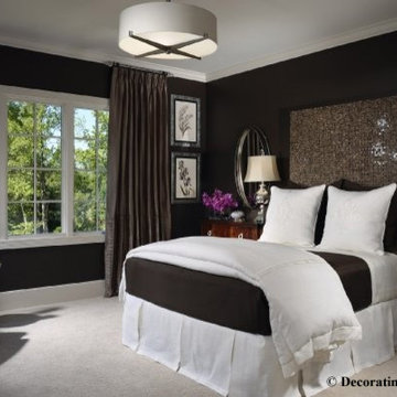 Chocolate brown and white bedroom