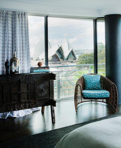 Éclectique Chambre by Marylou Sobel Interior Design
