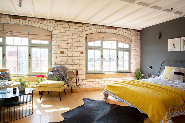 Industrial Bedroom by Cathy Dean Interior Design