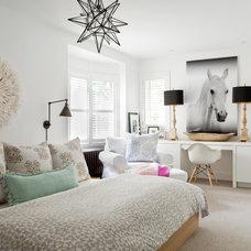 Transitional Bedroom by Jennifer Worts Design Inc.