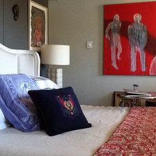Eclectic Bedroom by David Rowland Studio