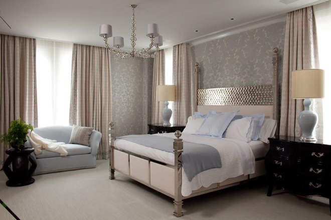 Master Bedrooms Robins Egg Blue Silver And Gold Metallics