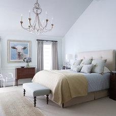 Mediterranean Bedroom by kim scodro interiors