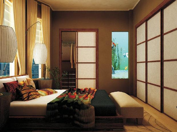Asian Bedroom by Marie Burgos Design