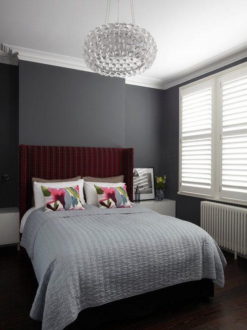 Grey Bedroom black and grey bedroom | houzz