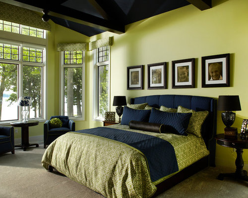 blue and green bedroom - Green Bedroom Design