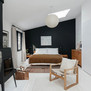Inspiration for a contemporary bedroom remodel in New York