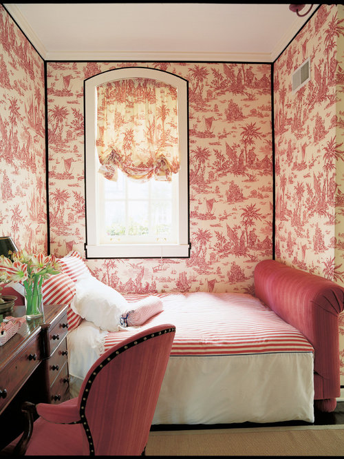 Lovely Traditional Bedroom Idea In Chicago With Multicolored Walls